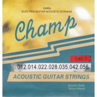 Champ CAG-7 Acoustic Bronze 7-String 12-56
