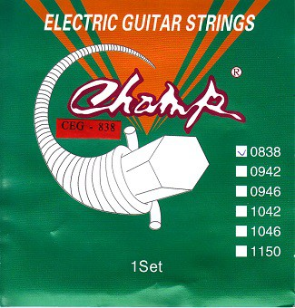 Струны для электрогитары Champ CEG-838 Electric Nickel 08-38