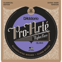 D'Addario EJ44 Pro-Arte Extra Hard Tension Clear Nylon & Silver