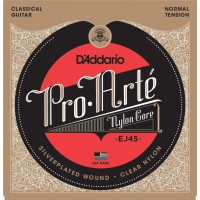 D'Addario EJ45 Pro-Arte Normal Tension Clear Nylon & Silver