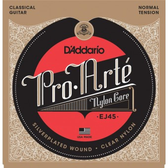 Струны нейлоновые D'Addario EJ45 Pro-Arte Normal Tension Clear Nylon & Silver