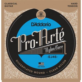 Струны нейлоновые D'Addario EJ46 Pro-Arte Hard Tension Clear Nylon & Silver