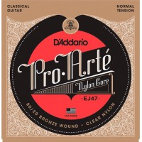 D'Addario EJ47 Pro-Arte Normal Tension Clear Nylon & Bronze