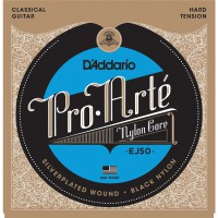 D'Addario EJ50 Pro-Arte Hard Tension Black Nylon & Silver