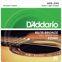 D'Addario EZ890 Bronze 85/15 Super Light 9-45