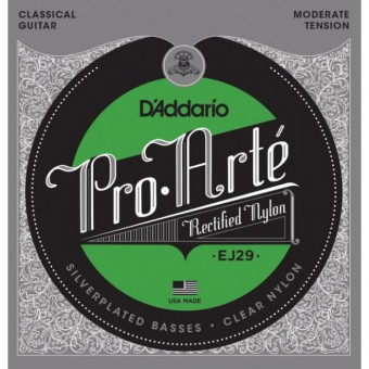 D'Addario EJ-29 Pro-Arte Moderate Tension Clear Nylon & Silver