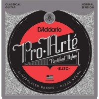 D'Addario EJ30 Pro-Arte Normal Tension Clear Nylon & Silver