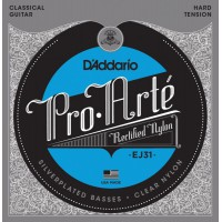 D'Addario EJ31 Pro-Arte Hard Tension Clear Nylon & Silver
