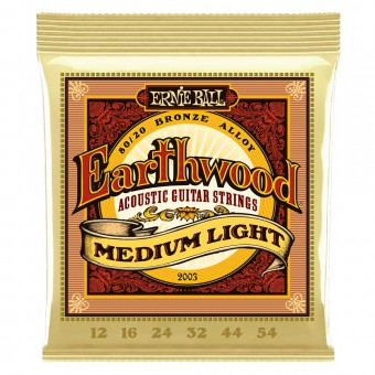 Струны для акустики Ernie Ball 2003 Earthwood Medium Light 80/20 Bronze 12-54