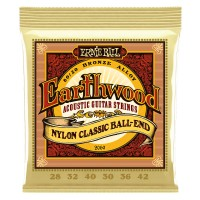 Ernie Ball 2069 Earthwood Folk Nylon, Clear & Gold Ball End