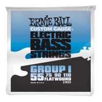 Струны для бас-гитары Ernie Ball 2802 Flatwound Bass Group I 55-110
