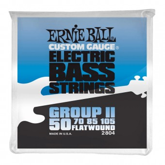 Струны для бас-гитары Ernie Ball 2804 Flatwound Bass Group II 50-105