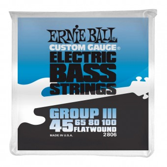 Ernie Ball 2806 Flatwound Bass Group III 45-100