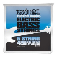 Струны для бас-гитары Ernie Ball 2810 Flatwound 5-string Bass 45-130