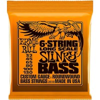 Струны для бас-гитары Ernie Ball 2838 Long Scale Slinky 6-String 32-130