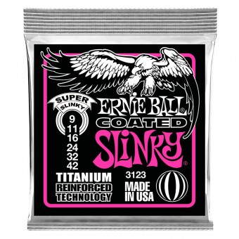 Струны для электрогитары Ernie Ball 3123 Coated Titanium 9-42 RPS Super